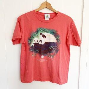 Vintage smithsonian salmon panda t-shirt